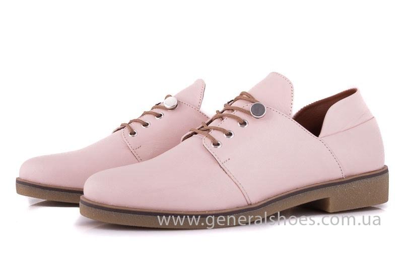 Женские кожаные туфли 6102 K пудра фото 6