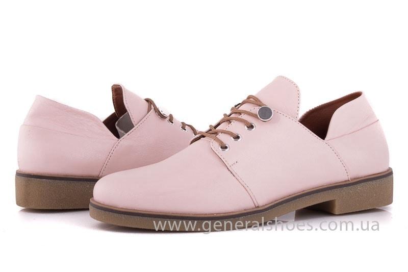 Женские кожаные туфли 6102 K пудра фото 7