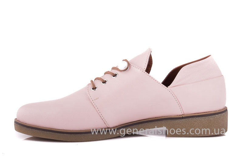 Женские кожаные туфли 6102 K пудра фото 9