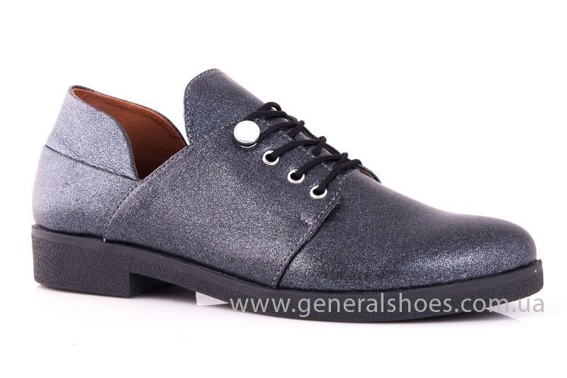 Женские кожаные туфли 6102 K серый фото 1