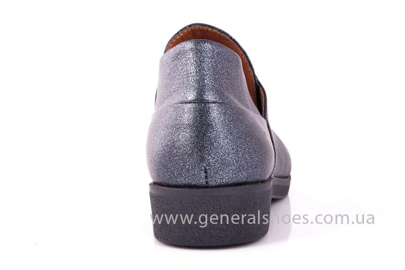 Женские кожаные туфли 6102 K серый фото 10