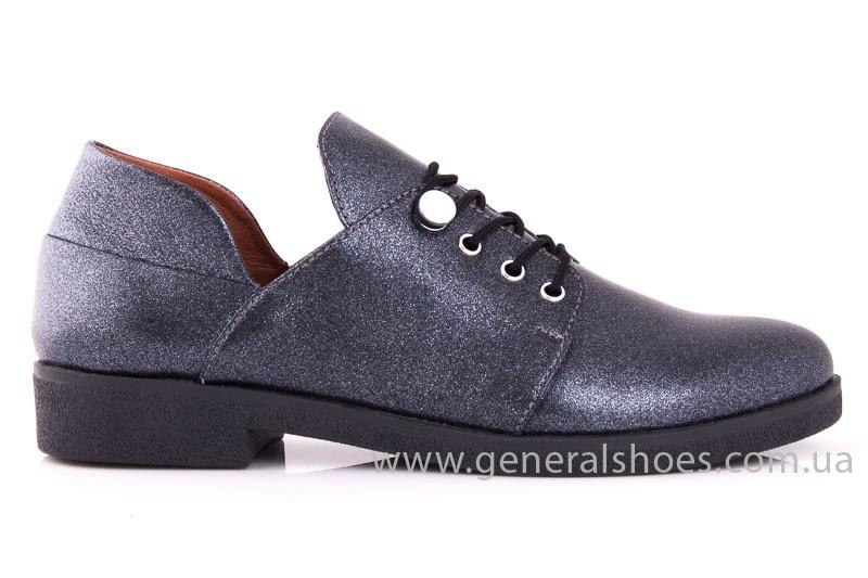 Женские кожаные туфли 6102 K серый фото 2