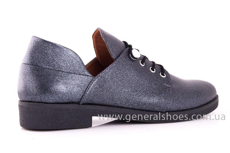 Женские кожаные туфли 6102 K серый фото 3