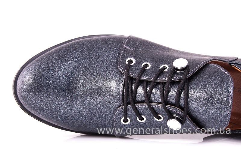 Женские кожаные туфли 6102 K серый фото 4