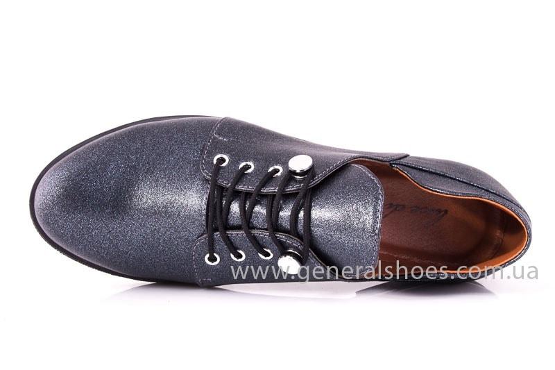 Женские кожаные туфли 6102 K серый фото 5