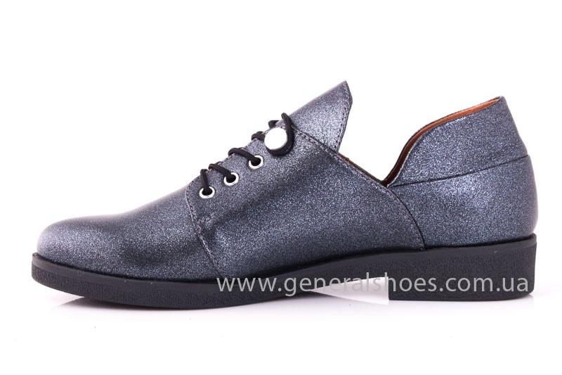 Женские кожаные туфли 6102 K серый фото 6