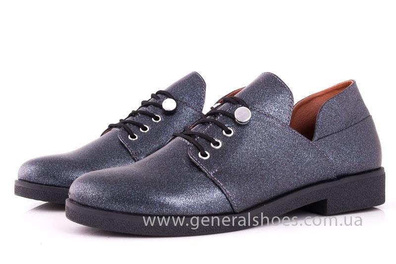 Женские кожаные туфли 6102 K серый фото 7