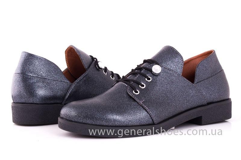 Женские кожаные туфли 6102 K серый фото 8