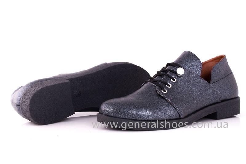 Женские кожаные туфли 6102 K серый фото 9
