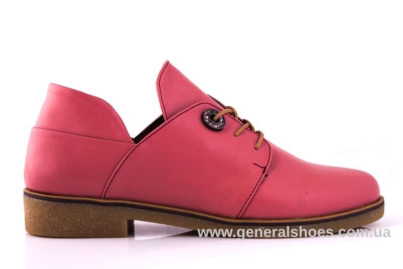 Женские кожаные туфли 6102 L паприка фото 2