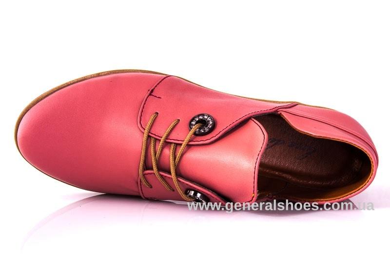 Женские кожаные туфли 6102 L паприка фото 4