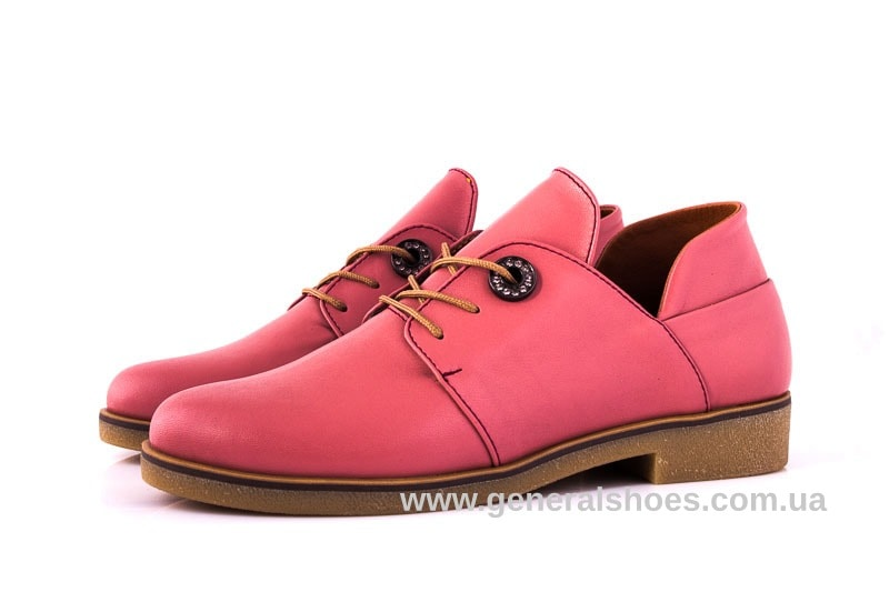 Женские кожаные туфли 6102 L паприка фото 5