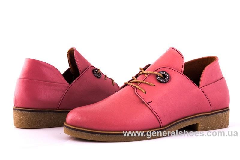 Женские кожаные туфли 6102 L паприка фото 8