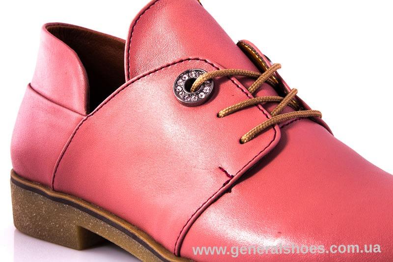 Женские кожаные туфли 6102 L паприка фото 11