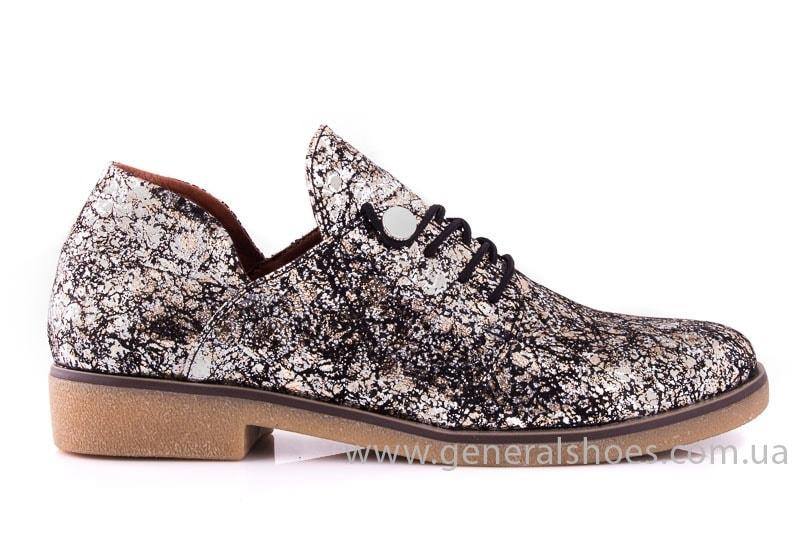 Женские кожаные туфли 6102 С бронза фото 2