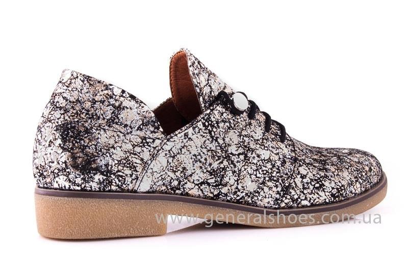 Женские кожаные туфли 6102 С бронза фото 3