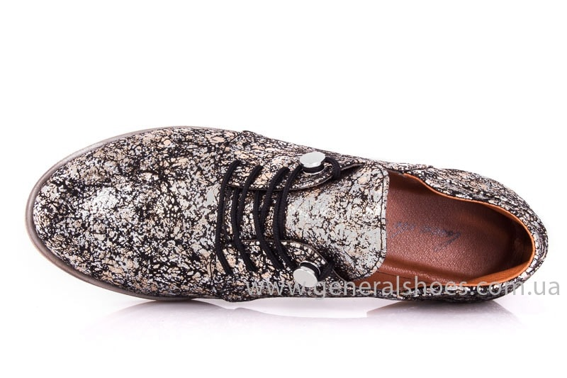 Женские кожаные туфли 6102 С бронза фото 4