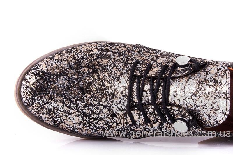 Женские кожаные туфли 6102 С бронза фото 5