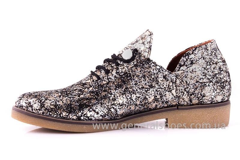 Женские кожаные туфли 6102 С бронза фото 6