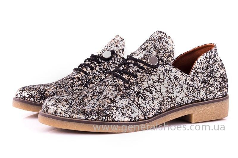 Женские кожаные туфли 6102 С бронза фото 7