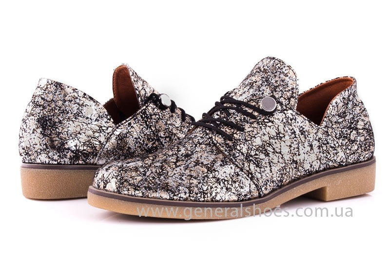 Женские кожаные туфли 6102 С бронза фото 8