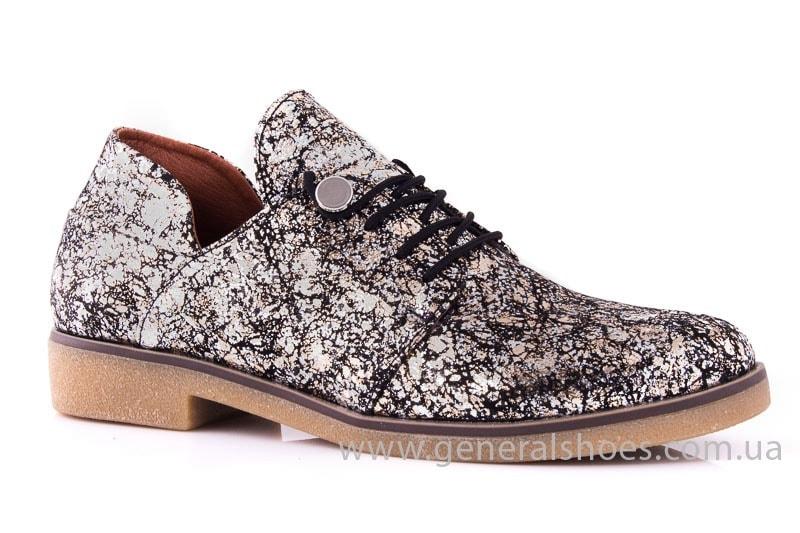 Женские кожаные туфли 6102 С бронза фото 1