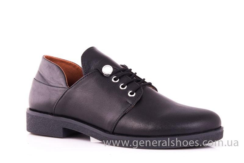 Женские кожаные туфли 6102 С черный фото 1
