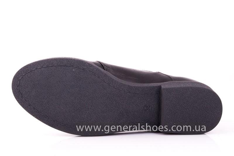 Женские кожаные туфли 6102 С черный фото 10
