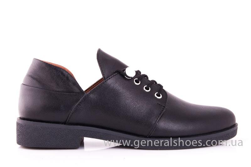Женские кожаные туфли 6102 С черный фото 2