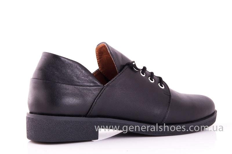 Женские кожаные туфли 6102 С черный фото 3