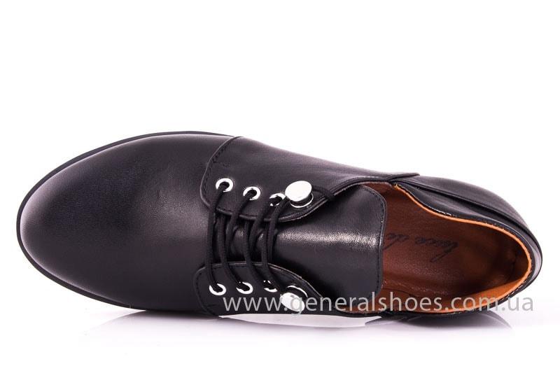 Женские кожаные туфли 6102 С черный фото 4