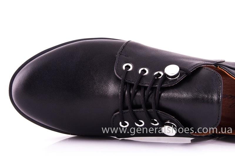 Женские кожаные туфли 6102 С черный фото 5