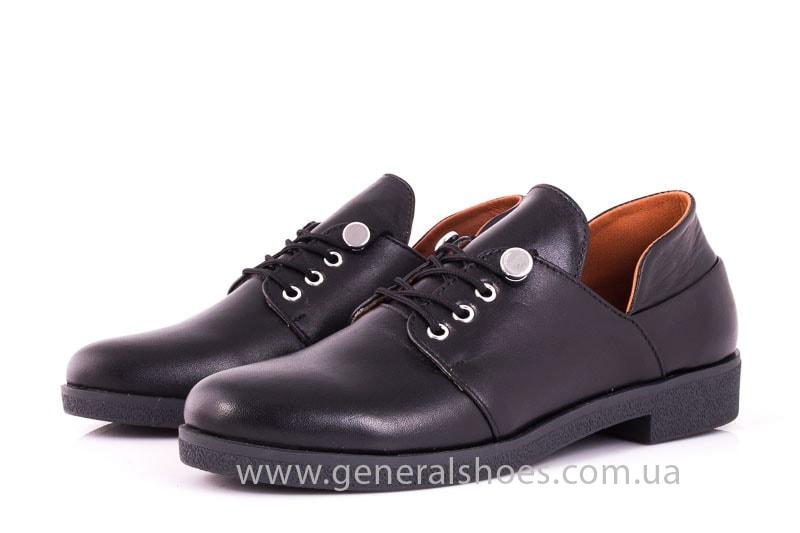 Женские кожаные туфли 6102 С черный фото 6
