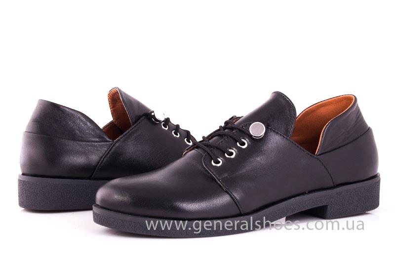 Женские кожаные туфли 6102 С черный фото 7