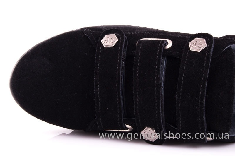 Женские замшевые кроссовки 3L blk.z фото 5