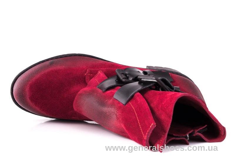 Женские замшевые полуботинки 2040 Z красный фото 5