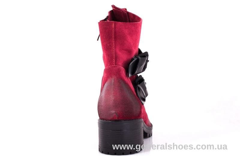Женские замшевые полуботинки 2040 Z красный фото 9
