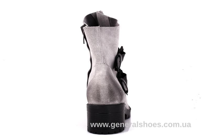 Женские замшевые полуботинки 2040 Z серебро фото 9