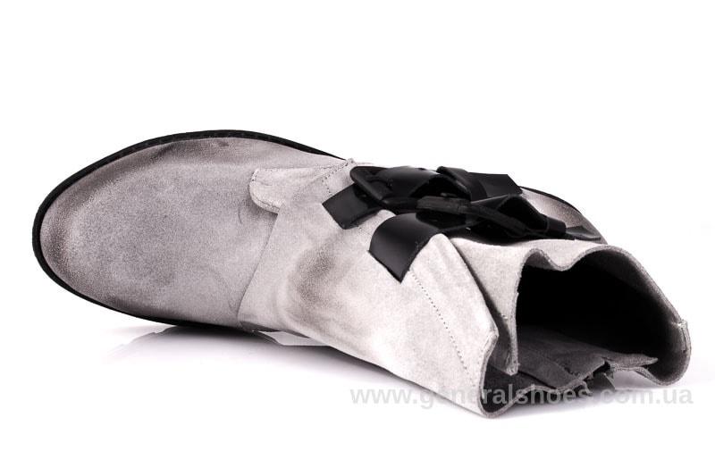 Женские замшевые полуботинки 2040 Z серебро фото 4