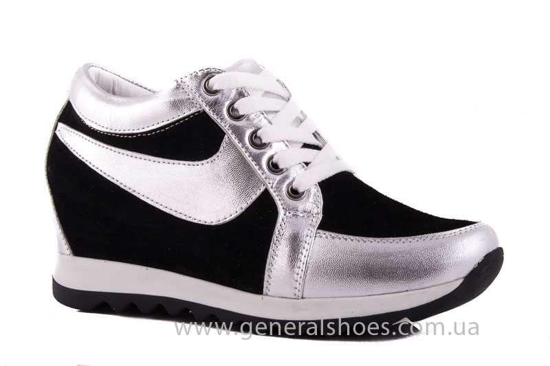 e26d945a6 Женские замшевые сникерсы Angel blk silver - General Shoes