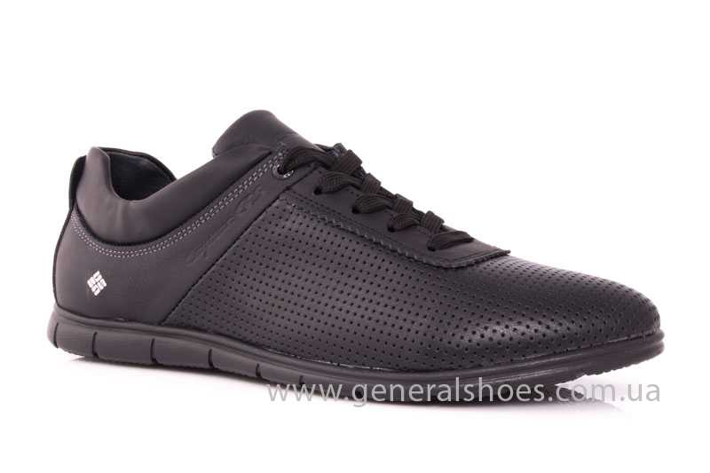Мужские кожаные кроссовки 61 blk Seattle фото 1