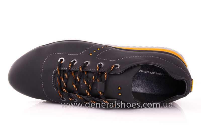 Мужские кожаные кроссовки GS 10 blk Cayman фото 6