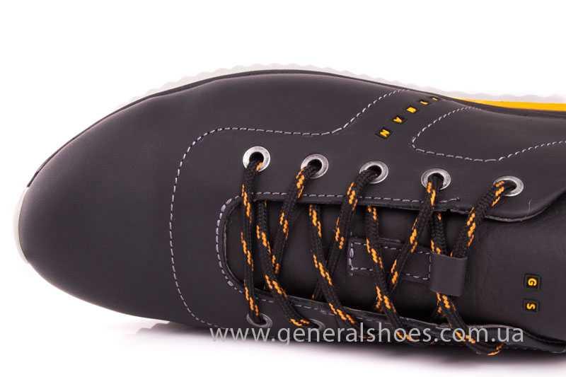 Мужские кожаные кроссовки GS 10 blk Cayman фото 7