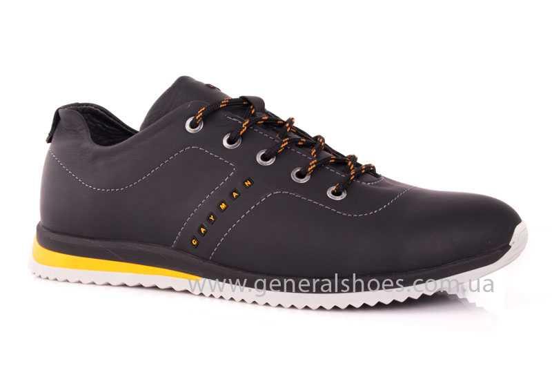 Мужские кожаные кроссовки GS 10 blk Cayman фото 1