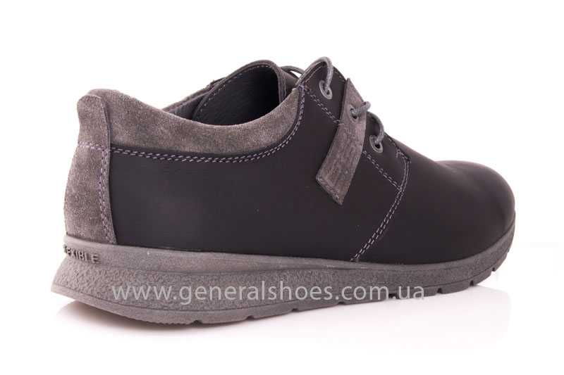 Мужские кожаные кроссовки GS RR blk V фото 3