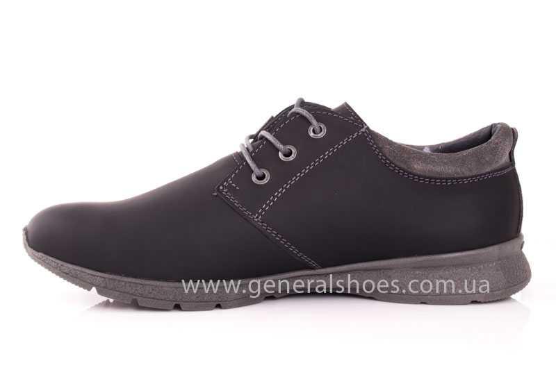 Мужские кожаные кроссовки GS RR blk V фото 5