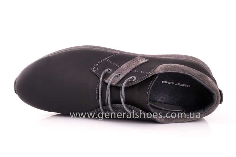 Мужские кожаные кроссовки GS RR blk V фото 6