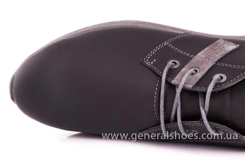 Мужские кожаные кроссовки GS RR blk V фото 7