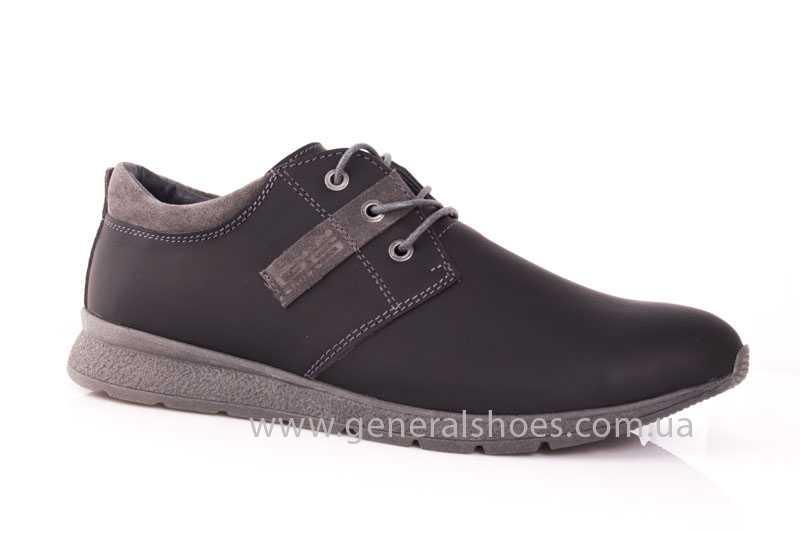 Мужские кожаные кроссовки GS RR blk V фото 1