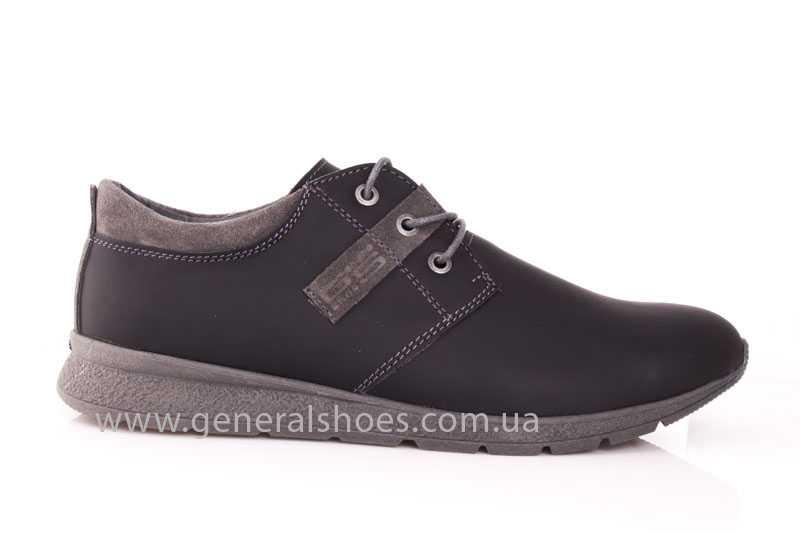 Мужские кожаные кроссовки GS RR blk V фото 2